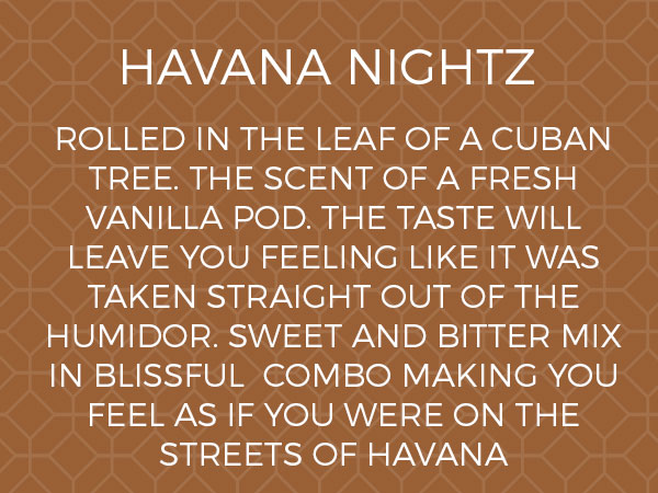 Havana Nightz E Liquid by Joose e Liqz
